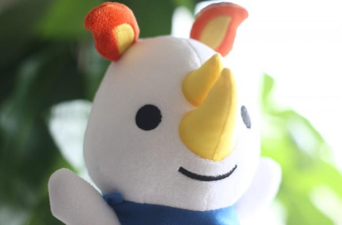神戸労災病院様 オリジナルキャラクター「ロッサくん」ぬいぐるみ