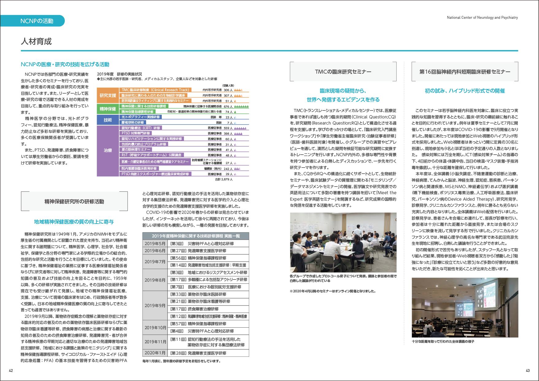 国立研究開発法人 国立精神・神経医療研究センター様 ANNUAL REPORT2019-2020